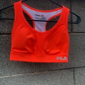 Fila Orange Sports Bra